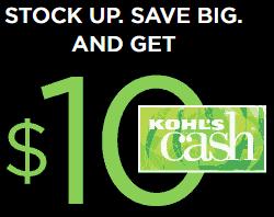 $10 off Kohls Cash